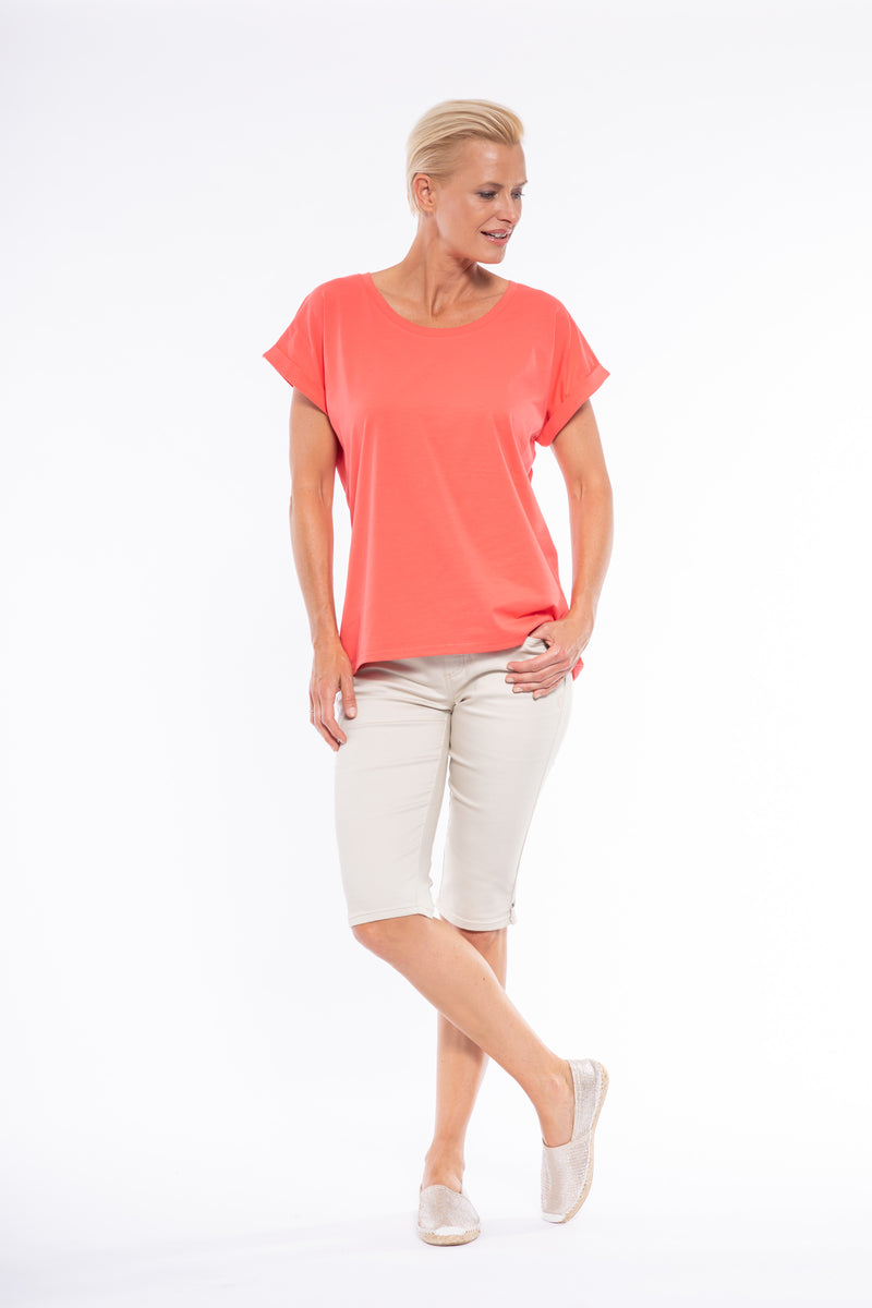 Cafe Latte Tshirt  Coral CLM134