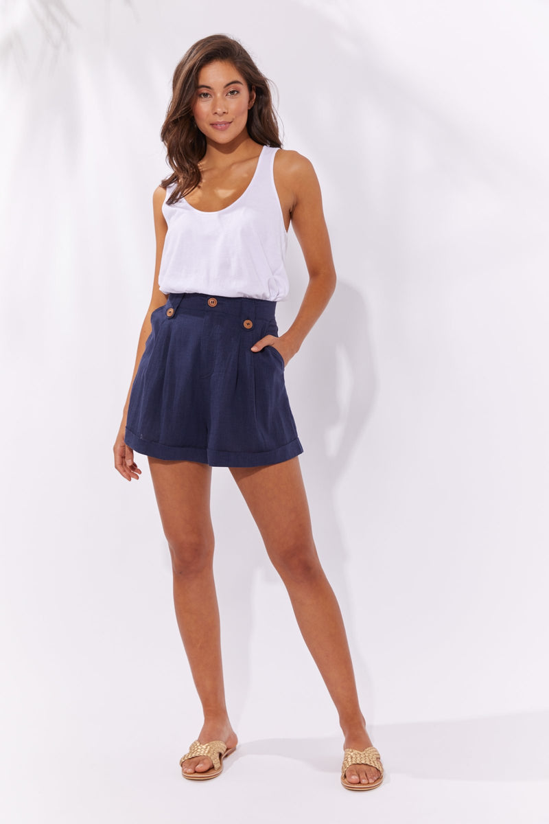 Haven Cuban Short Denim