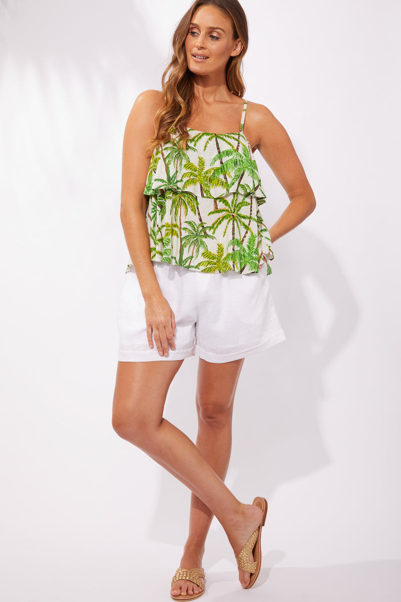 .Haven Paradise Top Lime Palm