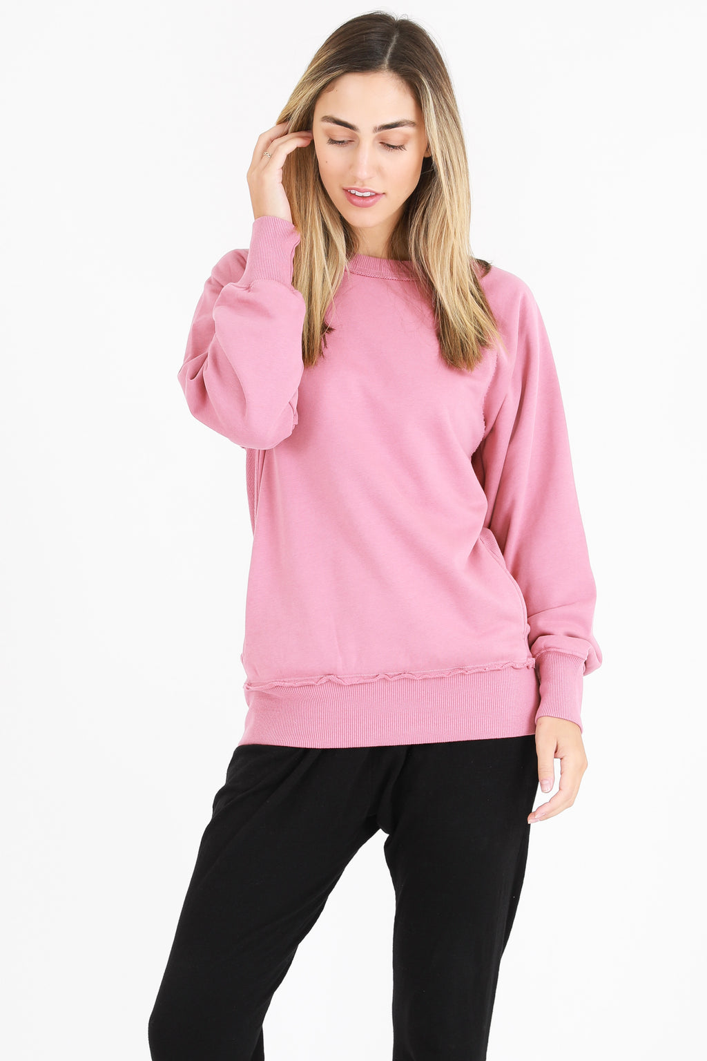 3rd Story Hannah Sweater Tango pink