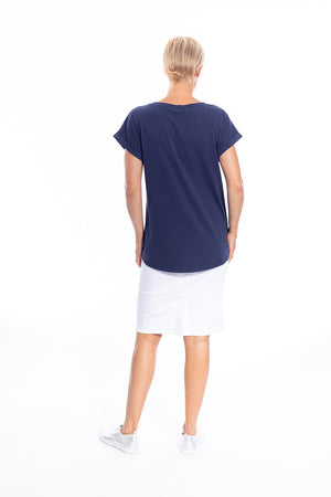 Cafe Latte Tshirt Navy CLM134