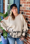 Cold Shoulder Knit Sweater with Open Arm Detail