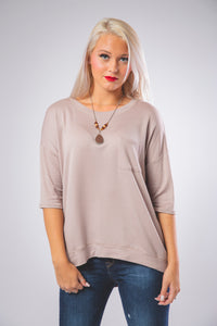 Front Pocket Detail Casual Top