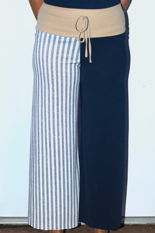 Color Block Wide Leg Pant