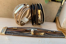 Load image into Gallery viewer, Multi Line Leather Bracelets