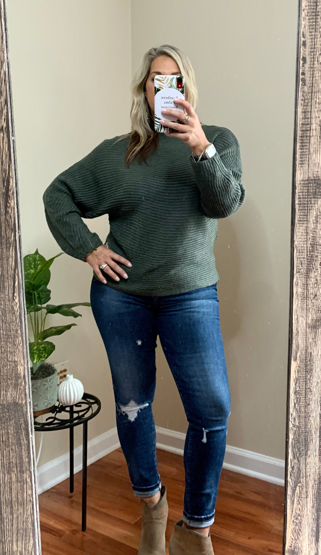 Dolman Sweater w/ Mock Neck