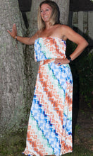Load image into Gallery viewer, Strapless Pattern Tube Waist Maxi Dress