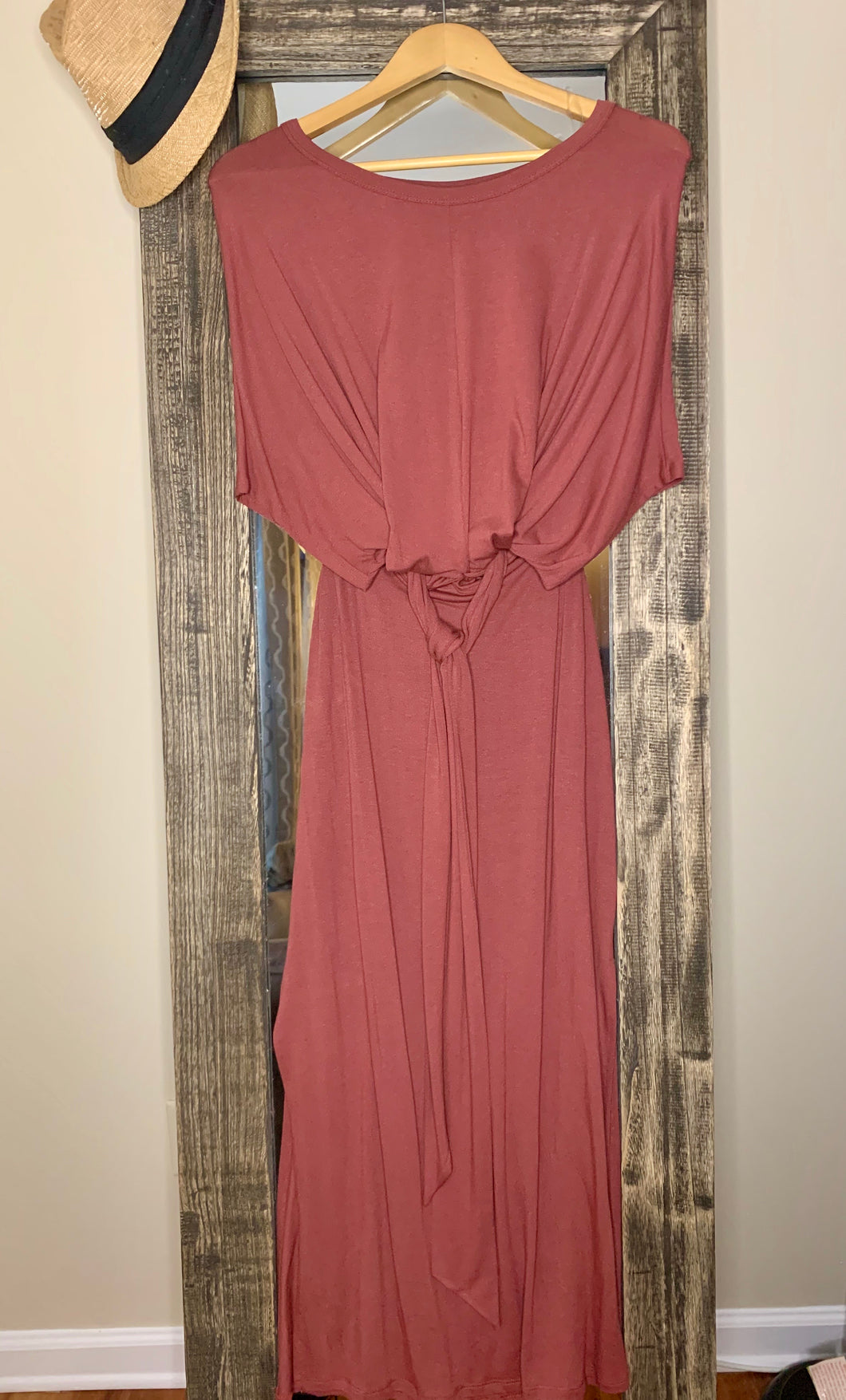 Maxi Dress with Tie Front