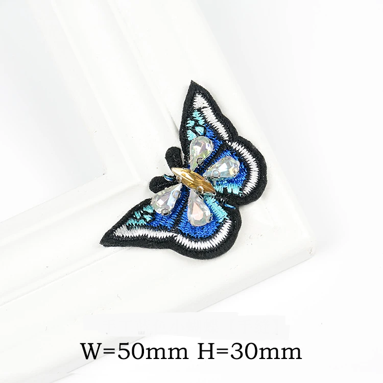 Beaded Butterfly and Starfish Sewing Cloth Stickers