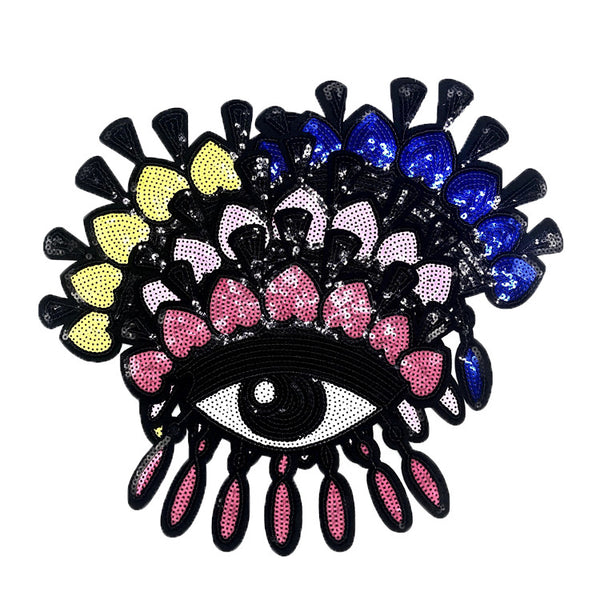 Big Eyes Embroidered Cartoon Sequin Patch
