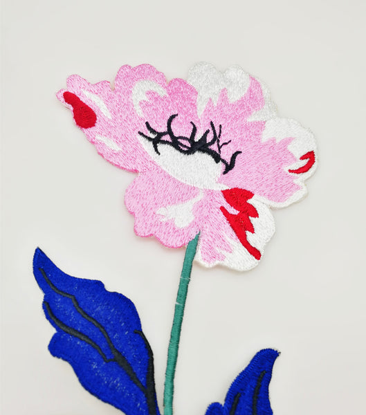 Color Peony Embroidery Patch