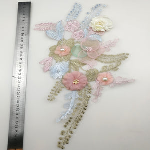 Three Dimensional Embroidered Lace Patch