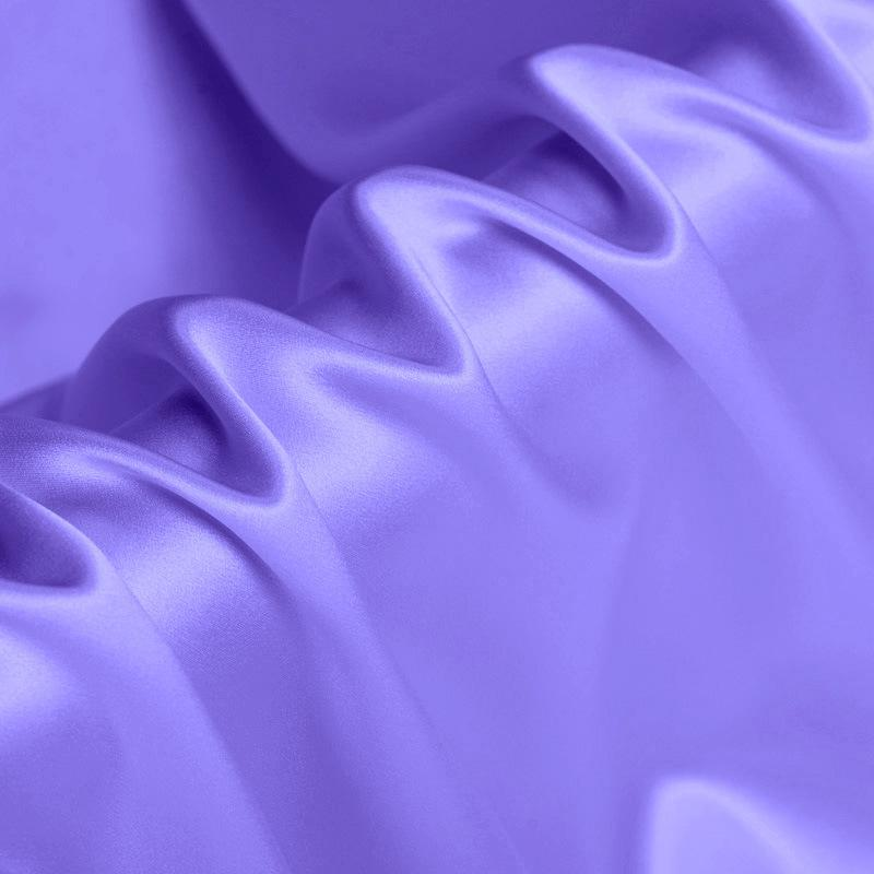 Snowy Blue Stretch Satin Silk Charmeuse(19 Momme)