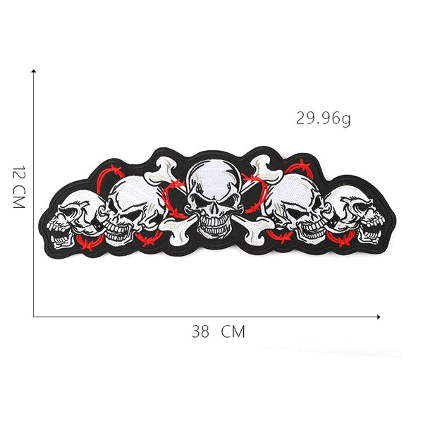 Skull Cloth Stickers Punk Ghost Head Patch