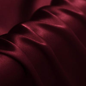 Wine Red Stretch Satin Silk Charmeuse(19 Momme)