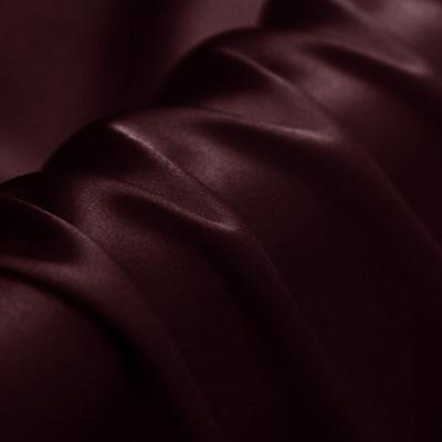Deep Red Silk Crepe Back Satin