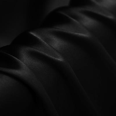 Black Stretch Satin Silk Charmeuse(19 Momme)