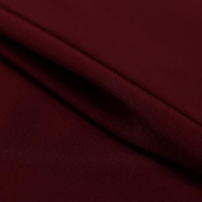 Wine Red Silk 4-Ply Crepe
