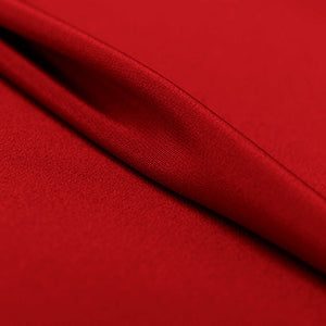 Bright Red Silk 4-Ply Crepe