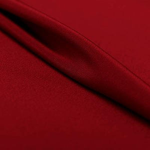Purplish Red Silk 4-Ply Crepe