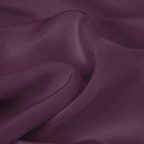 Black Purple Silk 4-Ply Crepe