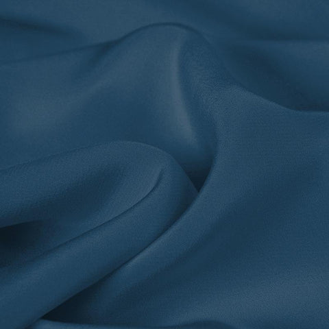 Blue Silk 4-Ply Crepe