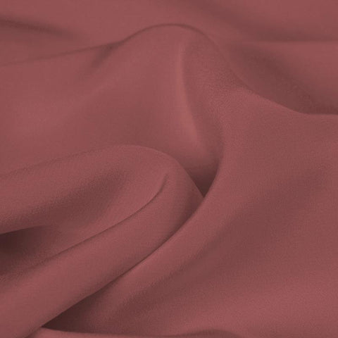 Silver Red Silk 4-Ply Crepe