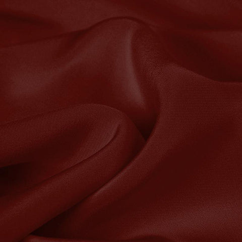 Caramel Red Silk 4-Ply Crepe