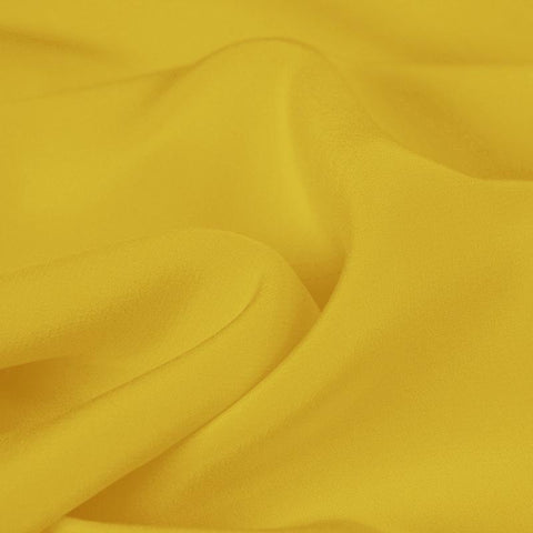 Bright Yellow Silk 4-Ply Crepe