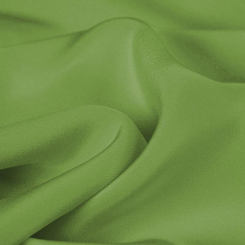 Grass Green Silk 4-Ply Crepe