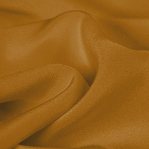 Amber Yellow Silk 4-Ply Crepe