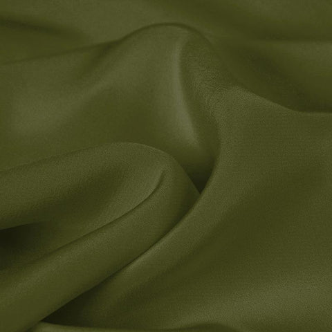 Brown Green Silk 4-Ply Crepe