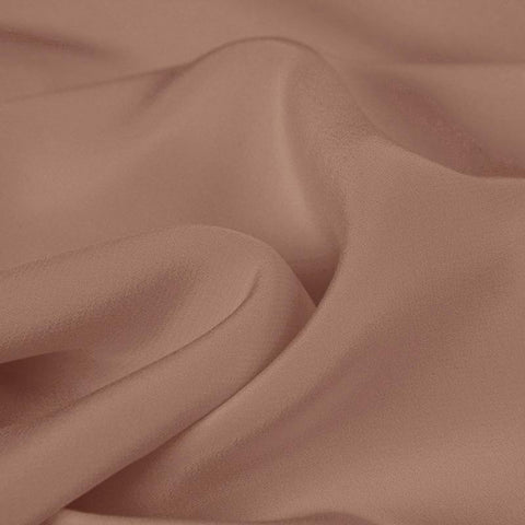 A Deep Blush Silk 4-Ply Crepe