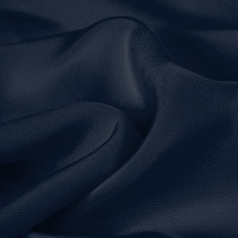Navy Blue Silk 4-Ply Crepe