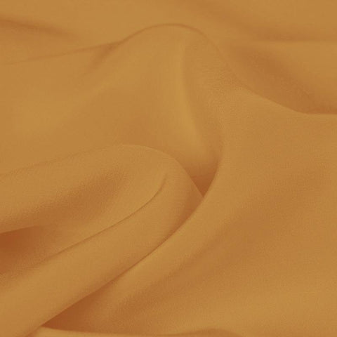 Apricot Yellow Silk 4-Ply Crepe