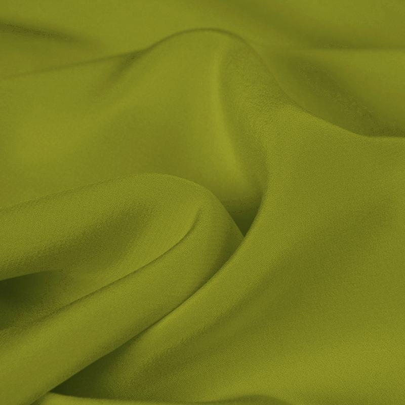 Fragrant Autumn Green Silk 4-Ply Crepe