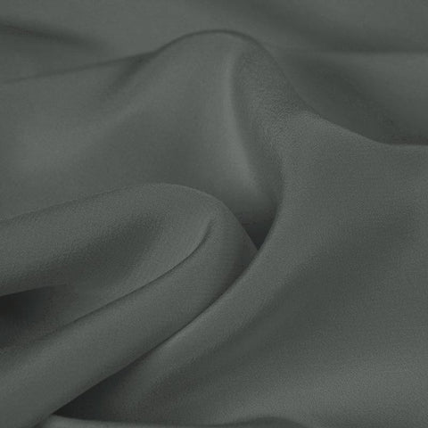 Medium Gray Silk 4-Ply Crepe
