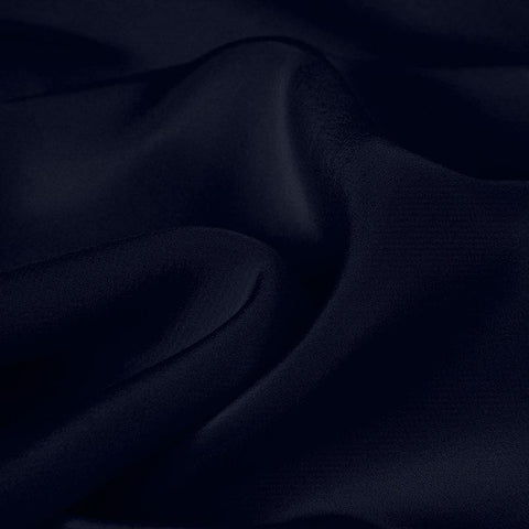 Black Blue Silk 4-Ply Crepe
