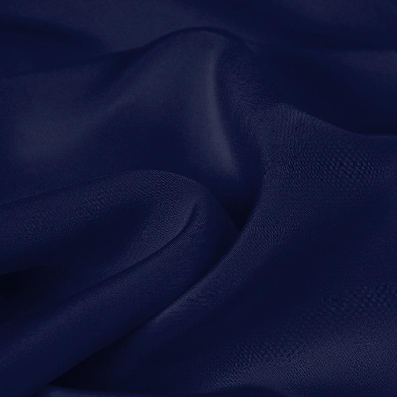 Deep Treasure Blue Silk 4-Ply Crepe
