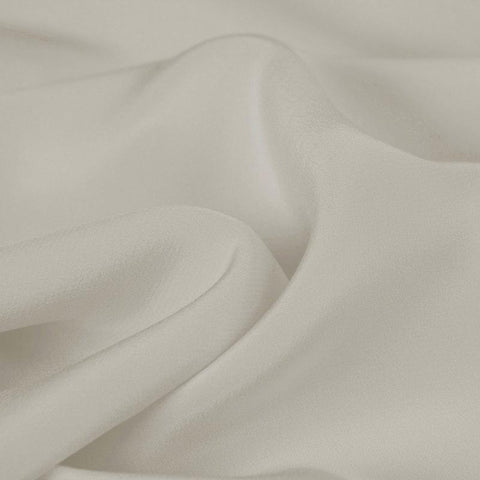 White Grey Silk 4-Ply Crepe