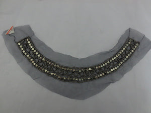 Grey Lace Beaded Collar