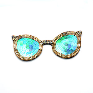 Indian Silk Rhinestone Sequined Sunglasses Cloth Stickers