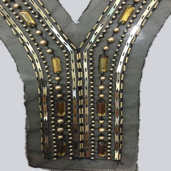 Y-shaped Serpentine Beaded Collar