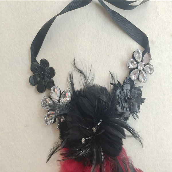 Feather Style Bead Clothing Accessories