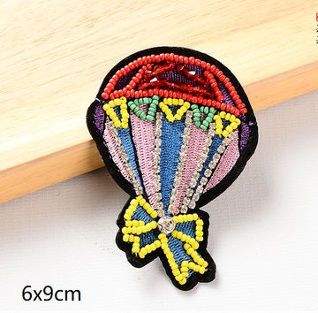 Beaded Peacock Insect Sewing Patch