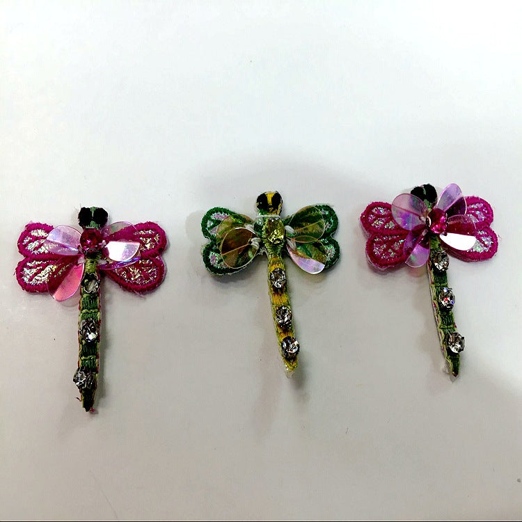 Mini-small Butterfly Bird Bee Cloth with Nail Bead Sequin Patch.