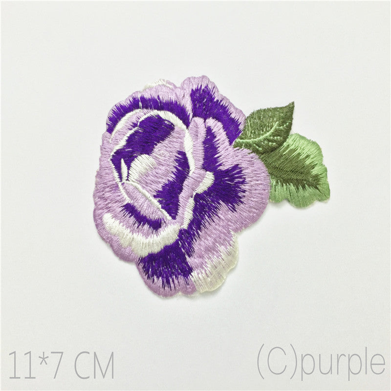 Beautiful Multicolor Flower Cloth Sticker