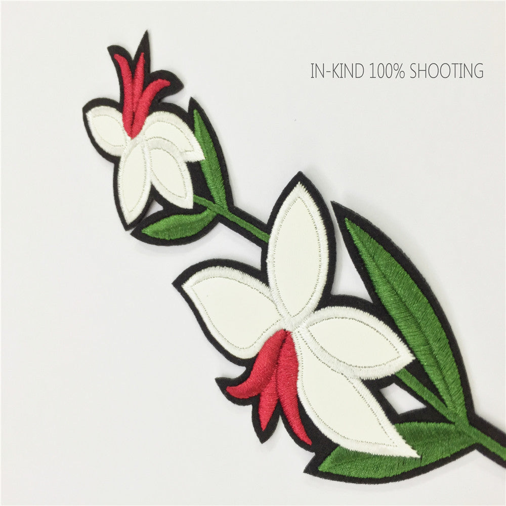 Embroidered Lily Applique Delicate Applique