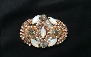 Rose Gold Diamond Inlaid Beaded Exquisite Adhesive Applique