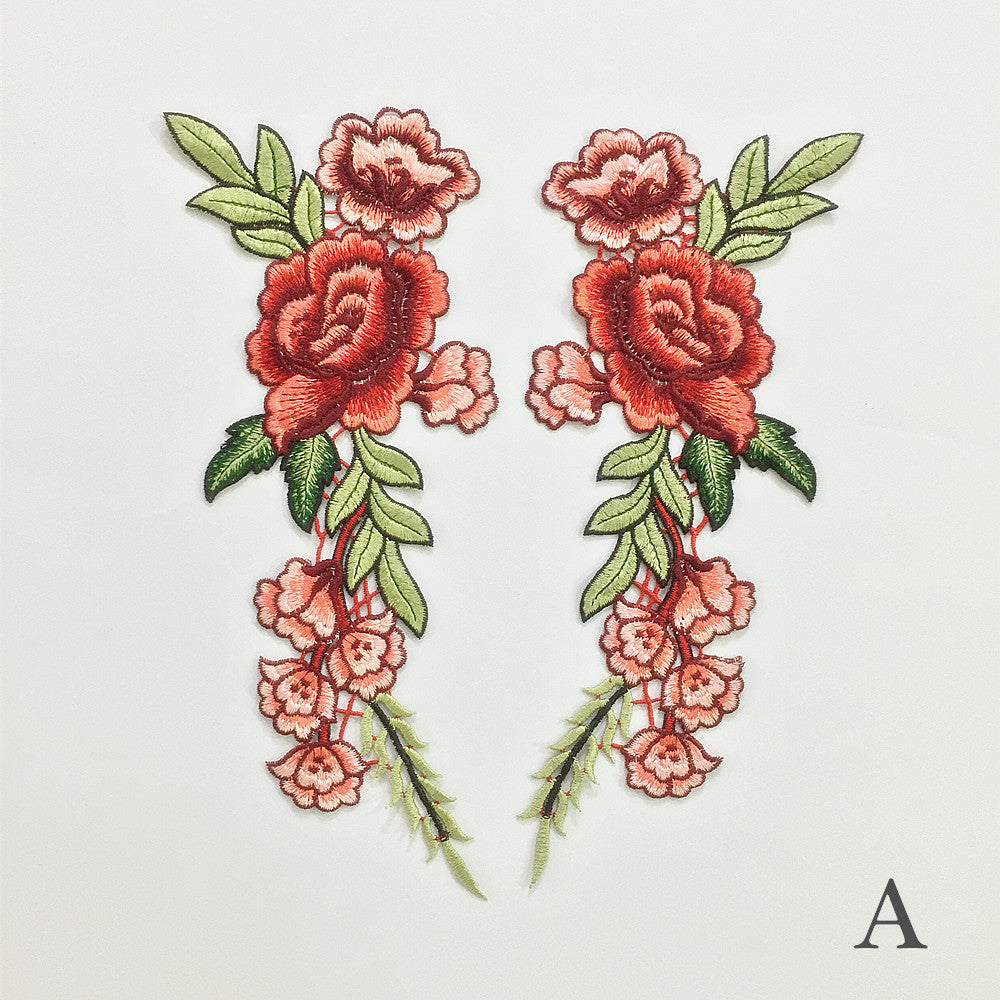 Gorgeous Classic Embroidery Series Red Patch